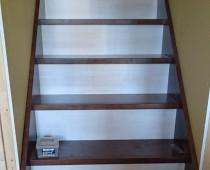 階段の造作工事 蹴込板 白色 住宅新築工事 岐阜県可児市 施工実績